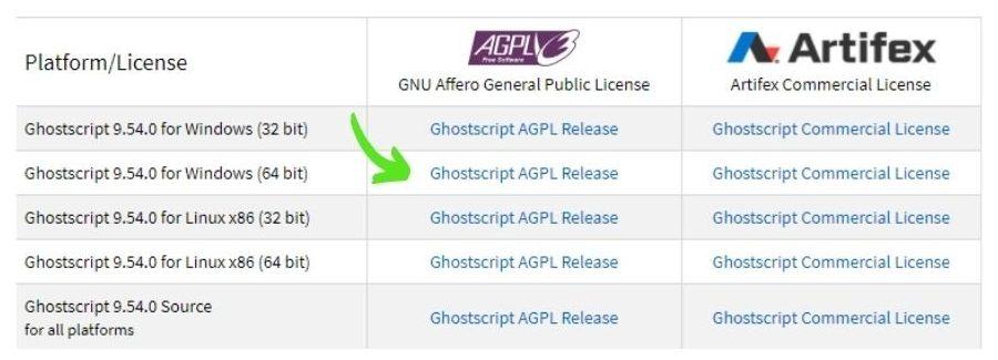 descargar Ghostscript