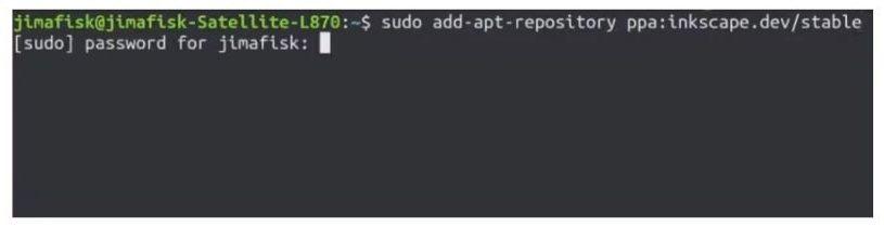 instalar inkscape consola terminal linux