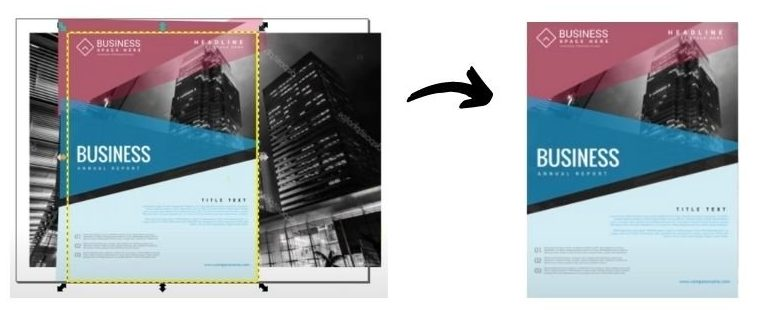recorte documento inkscape